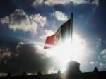 mega bandera del zocalo de D.F.